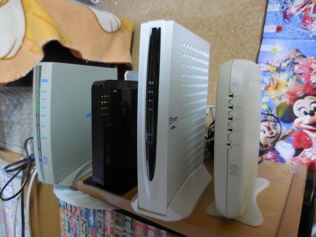 ○MB_N9031007D 無線LANルーター等10台セット PC-IT65D1E FXG-16IRM2 ADSL